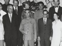Group picture of Zhou En-Lai and Stone in 1972