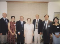 Dinner at Stone's home for Yang Jiemian who is to the left of Robert McNamara