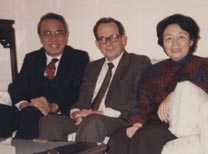 With Ambassador Ji Chaozhu, when serving as ambassador to Great Britain, and wife